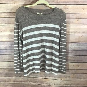 Madewell striped full sleeves top